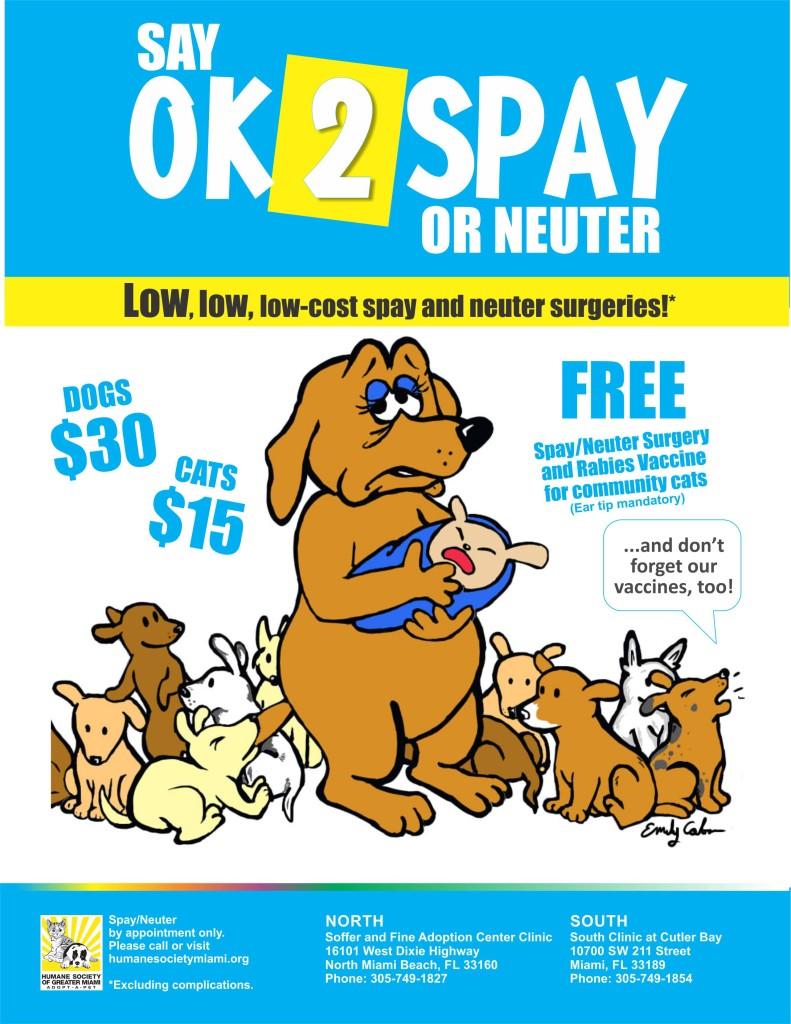 OK 2 Spay Campaign Cartoon