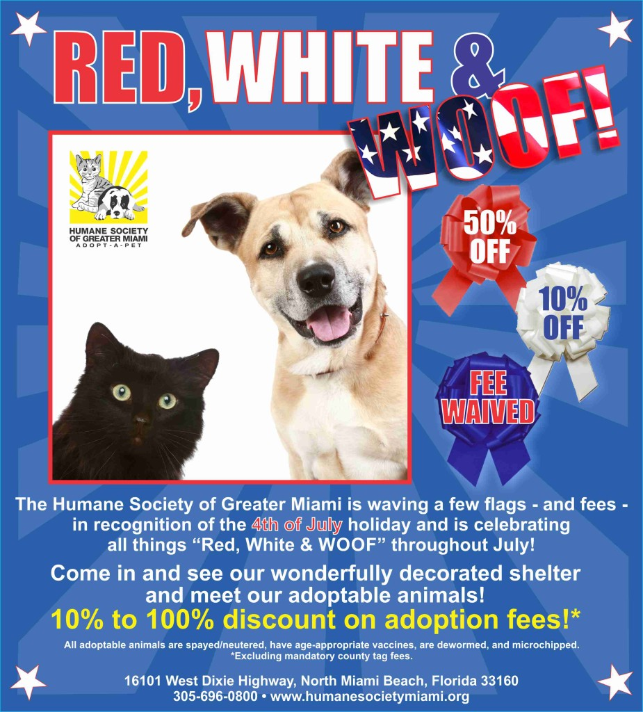 Red White Woof Poster Biscayne Times RGB