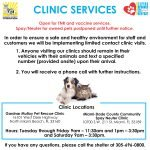 Clinic Services updated June 26 2020