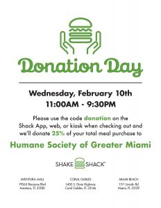 2.10.21 Humane Society of Greater Miami Donation Day Flyer