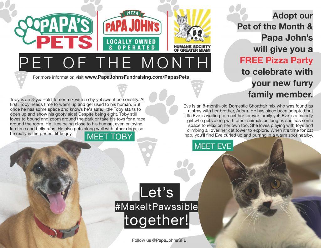 Papa's pets Humane Society Miami April
